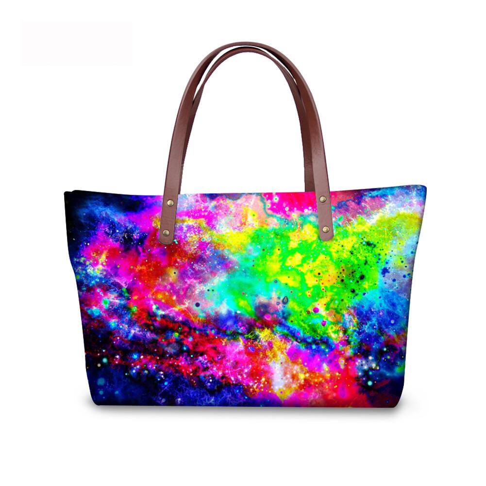 PhoRock Women Large Tote Bag  3D Star Sky Printed Handbag NKB3D004 5