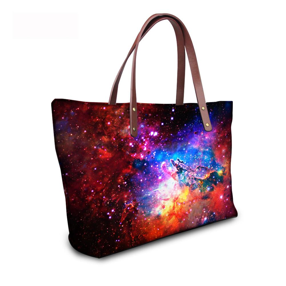 PhoRock Women Large Tote Bag  3D Star Sky Printed Handbag NKB3D004 9