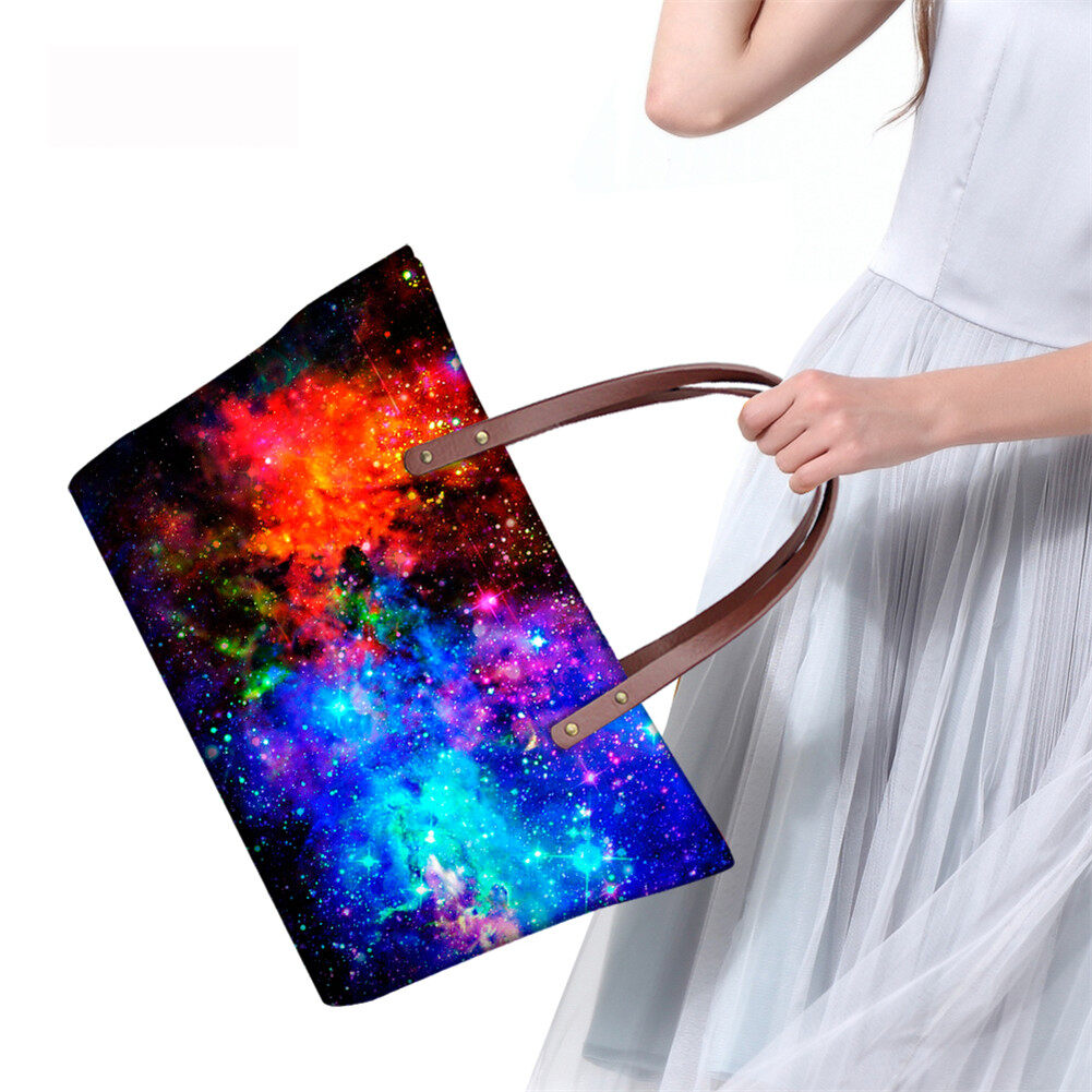 PhoRock Women Large Tote Bag  3D Star Sky Printed Handbag NKB3D004 11