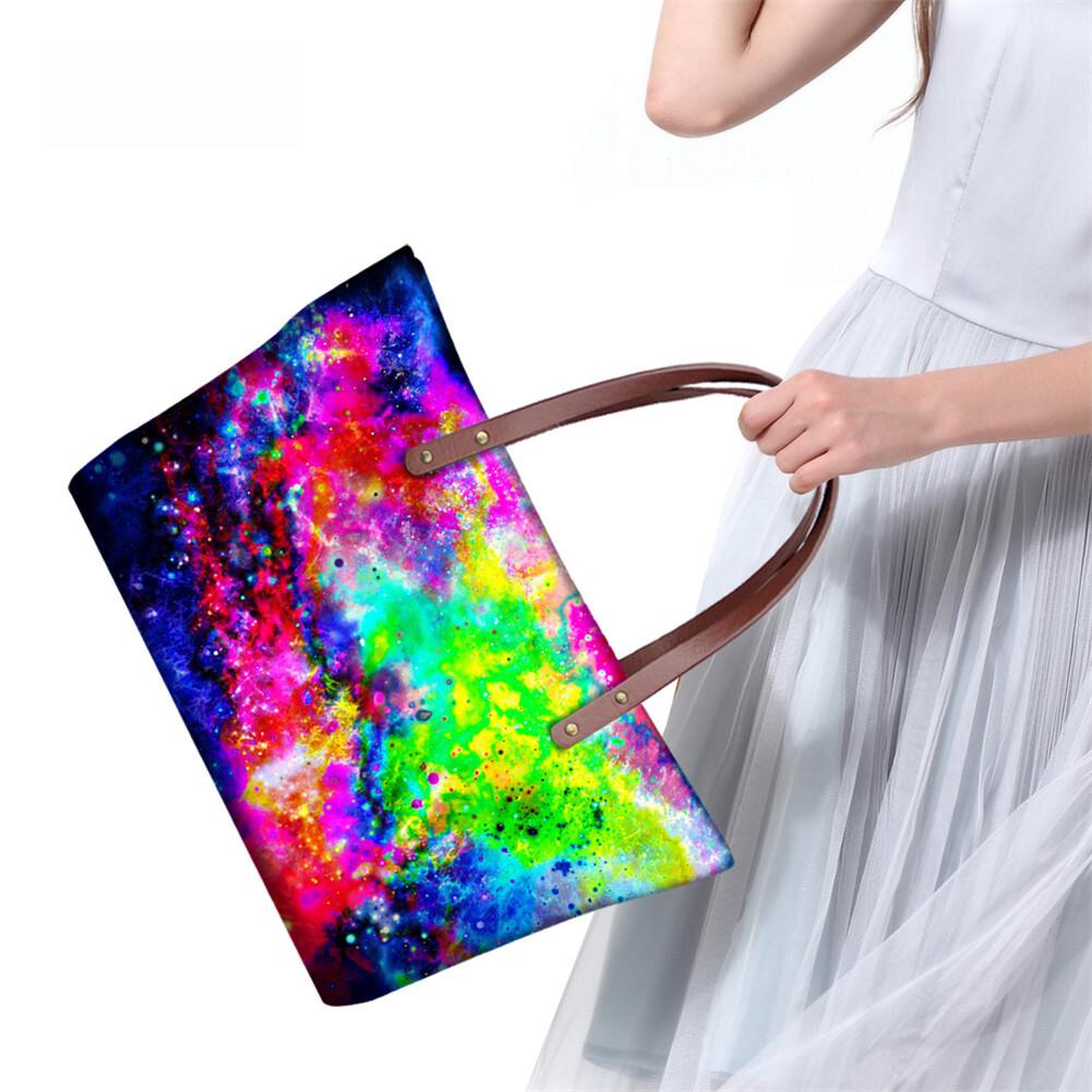 PhoRock Women Large Tote Bag  3D Star Sky Printed Handbag NKB3D004 14