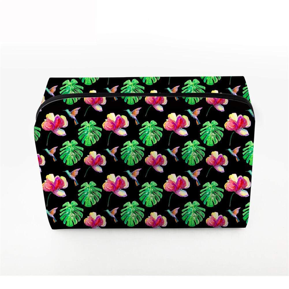 PhoRock Women Cosmetic Bag 3D Flowers and Birds Printed Handbag HZB3D022 0