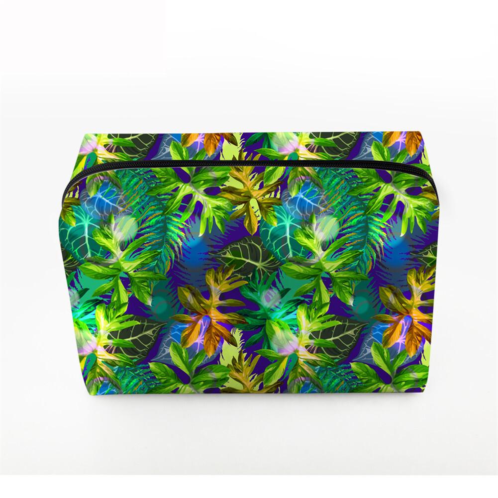 PhoRock Women Cosmetic Bag 3D Flowers and Birds Printed Handbag HZB3D022 1