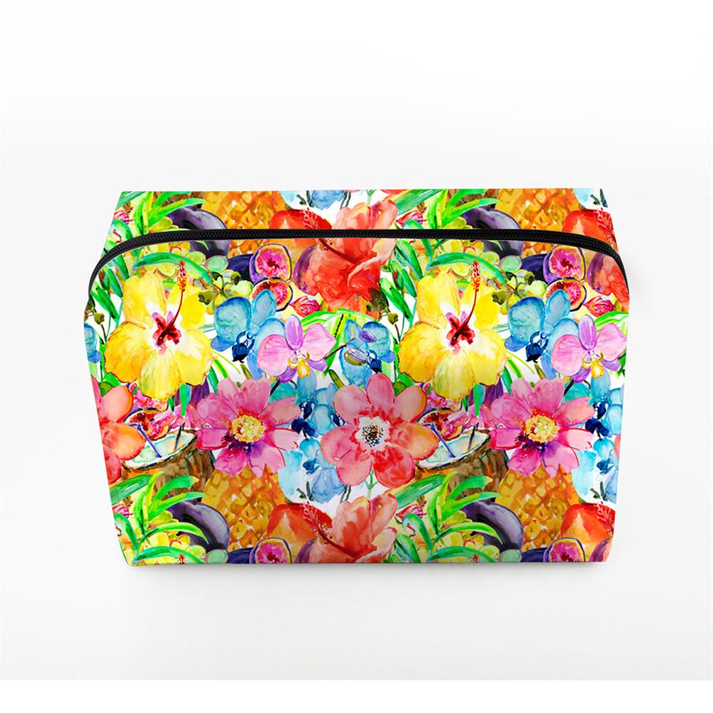 PhoRock Women Cosmetic Bag 3D Flowers and Birds Printed Handbag HZB3D022 4