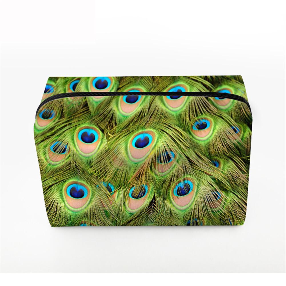 PhoRock Women Cosmetic Bag 3D Flowers and Birds Printed Handbag HZB3D022 5