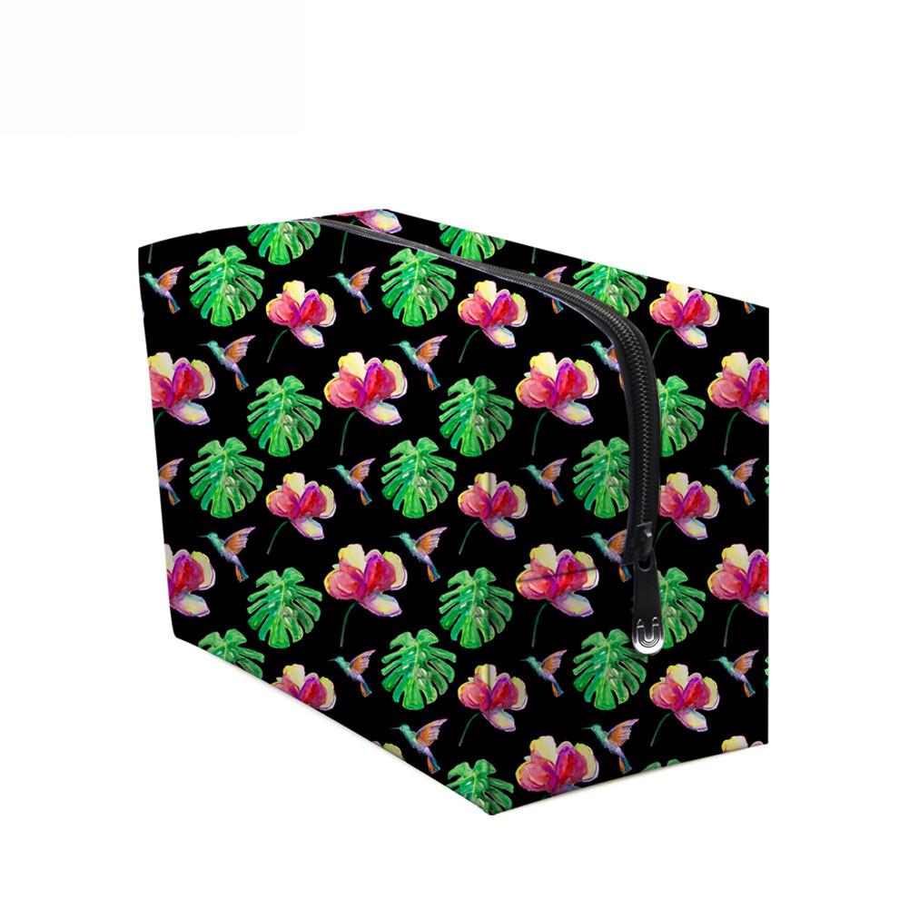 PhoRock Women Cosmetic Bag 3D Flowers and Birds Printed Handbag HZB3D022 7