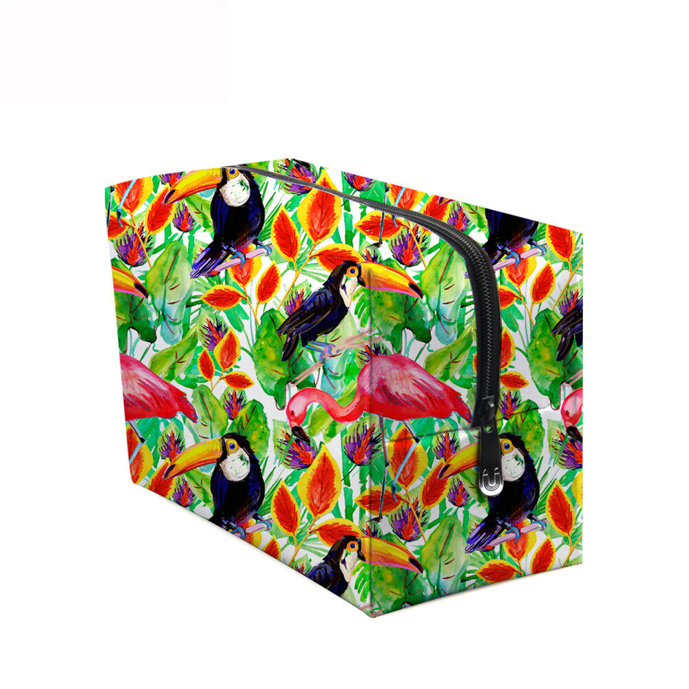 PhoRock Women Cosmetic Bag 3D Flowers and Birds Printed Handbag HZB3D022 9