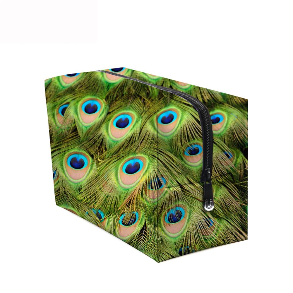 PhoRock Women Cosmetic Bag 3D Flowers and Birds Printed Handbag HZB3D022 12