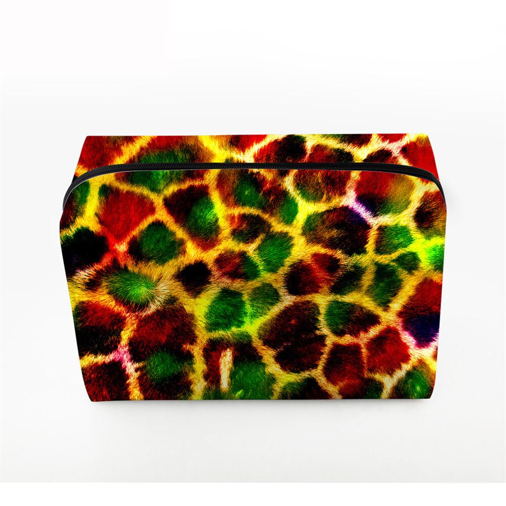 PhoRock Women Cosmetic Bag 3D Leopard Printed Handbag HZB3D008 1