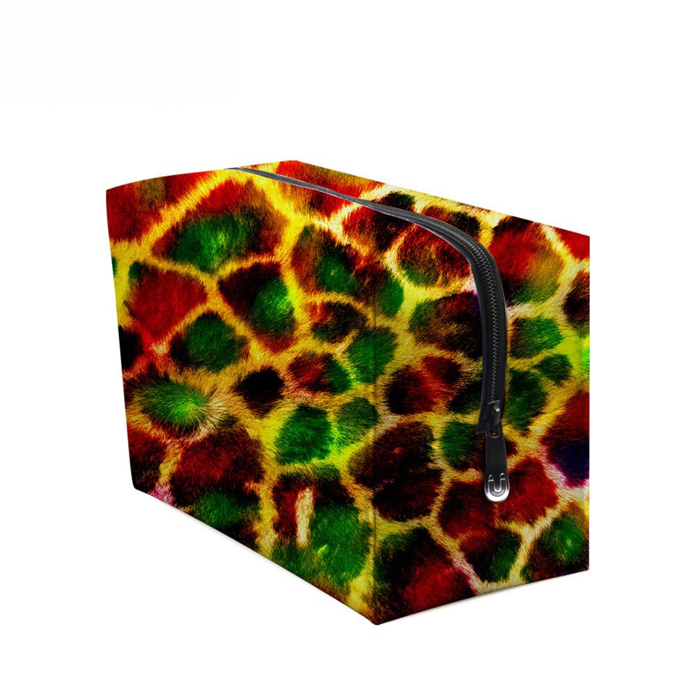 PhoRock Women Cosmetic Bag 3D Leopard Printed Handbag HZB3D008 8