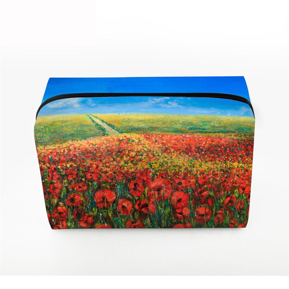 PhoRock Women Cosmetic Bag 3D Paysage Printed Handbag HZB3D033 1