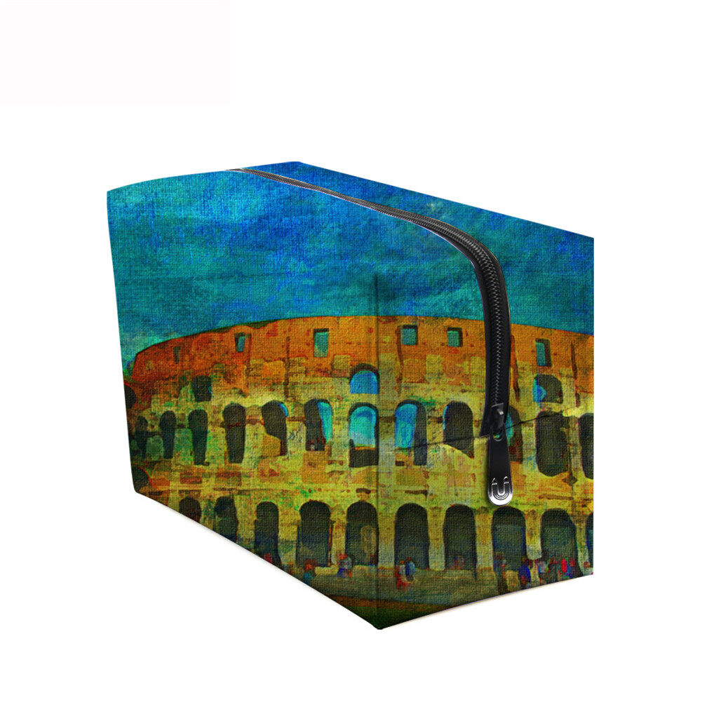 PhoRock Women Cosmetic Bag 3D Paysage Printed Handbag HZB3D033 12