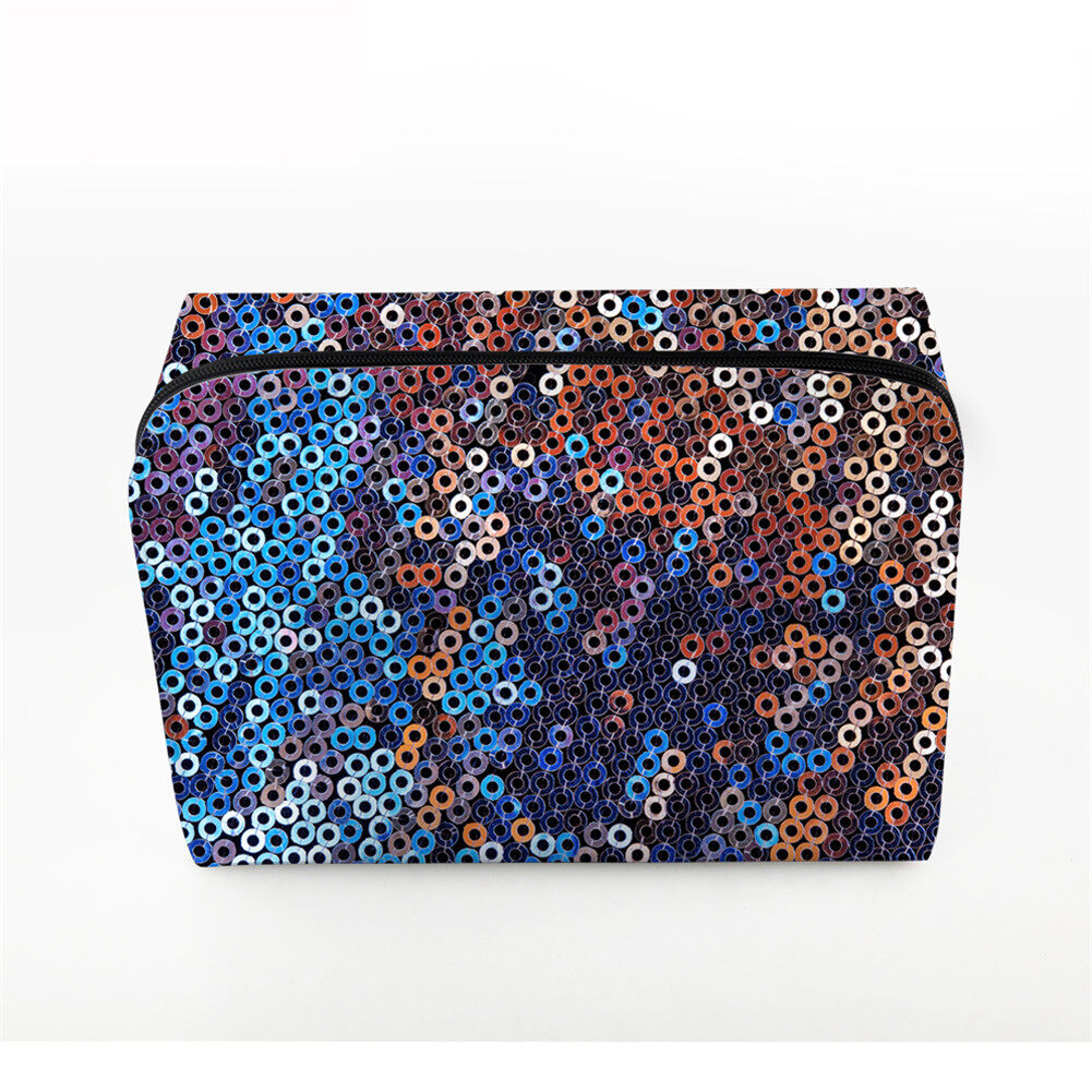 PhoRock Women Cosmetic Bag 3D Sequins Printed Handbag HZB3D018 3