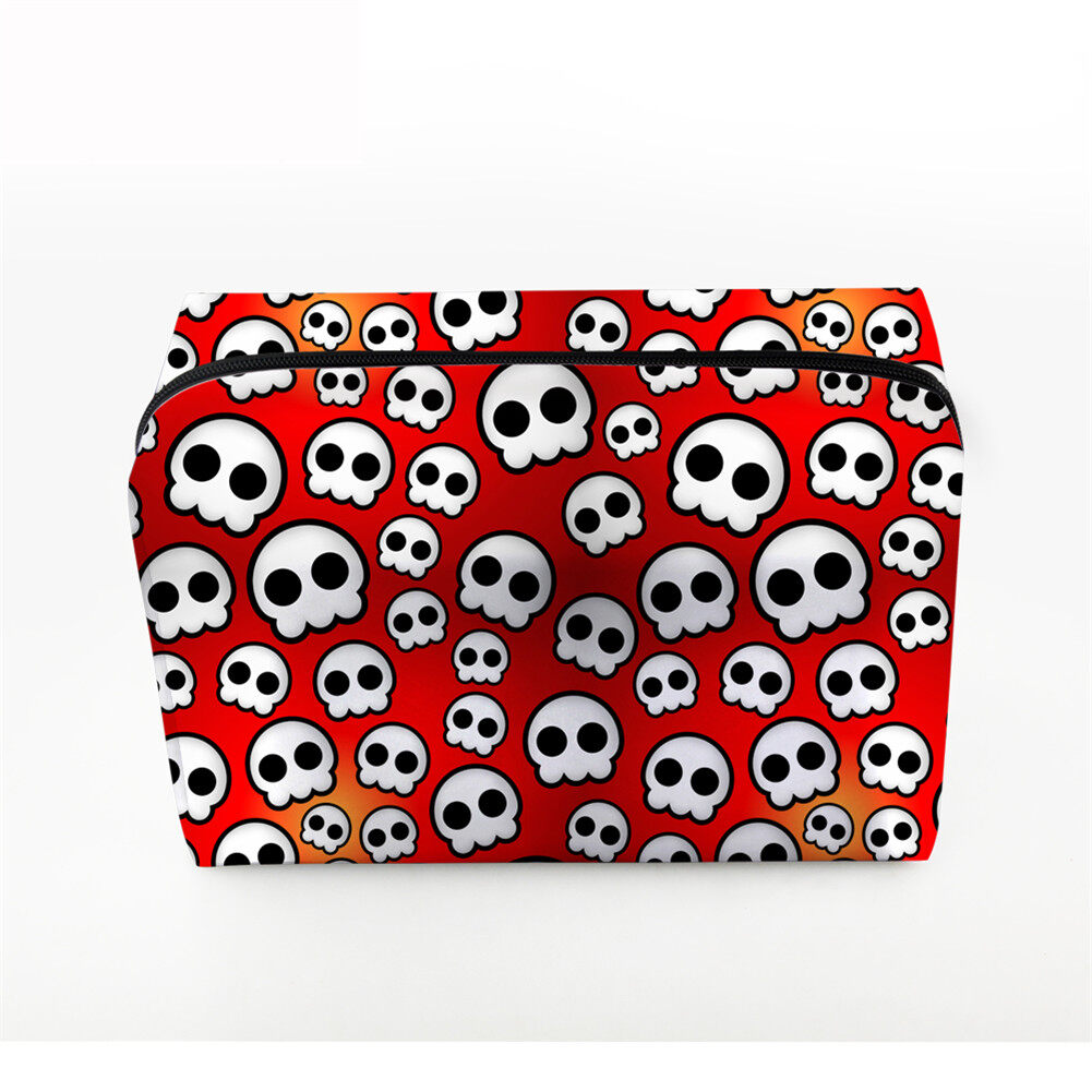 PhoRock Women Cosmetic Bag 3D Skull Printed Handbag HZB3D005 1