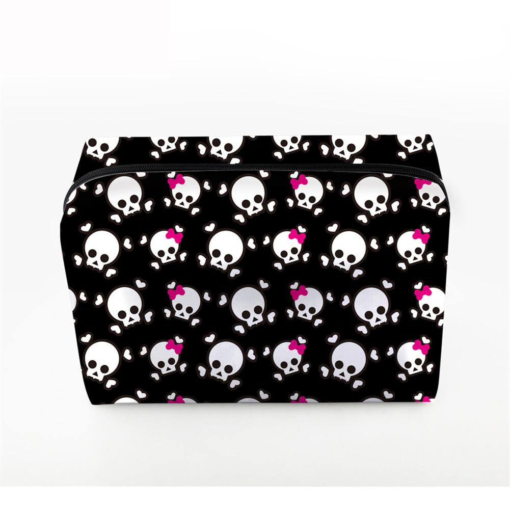 PhoRock Women Cosmetic Bag 3D Skull Printed Handbag HZB3D005 2