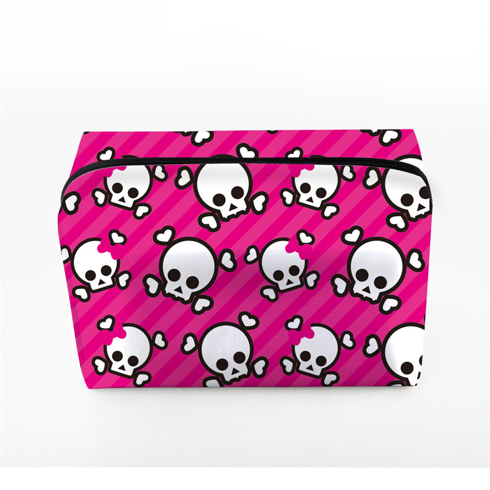 PhoRock Women Cosmetic Bag 3D Skull Printed Handbag HZB3D005 3