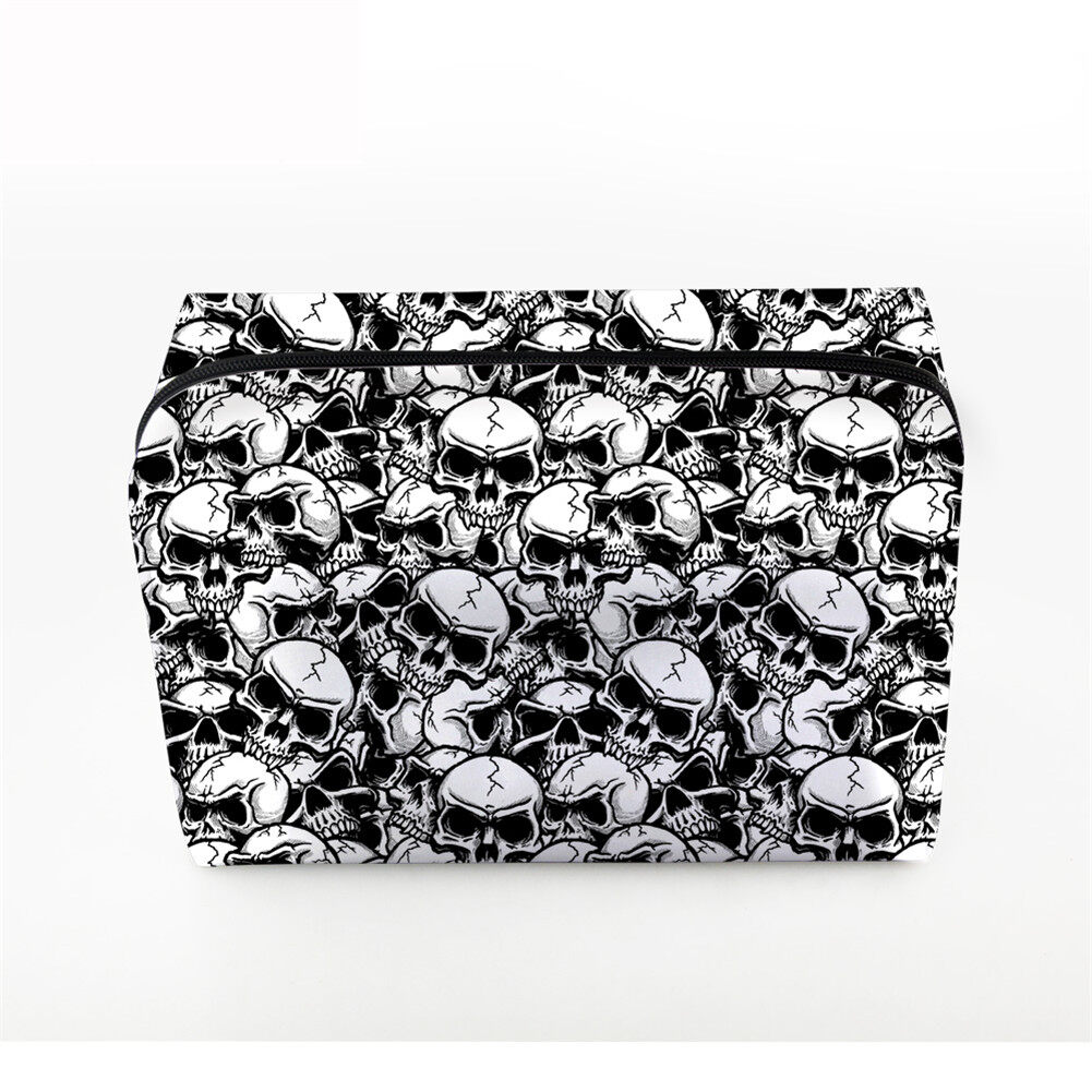 PhoRock Women Cosmetic Bag 3D Skull Printed Handbag HZB3D005 4
