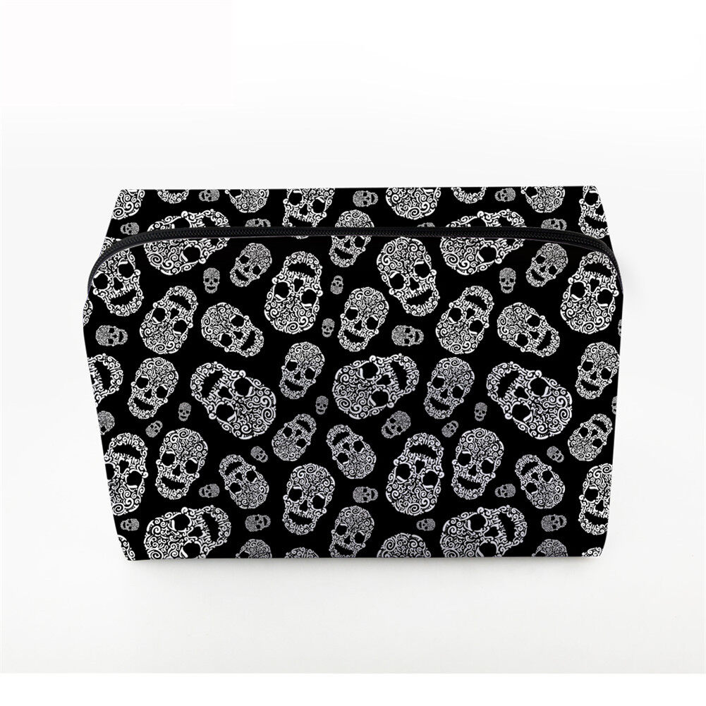 PhoRock Women Cosmetic Bag 3D Skull Printed Handbag HZB3D005 5
