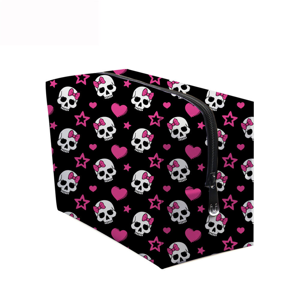 PhoRock Women Cosmetic Bag 3D Skull Printed Handbag HZB3D005 7