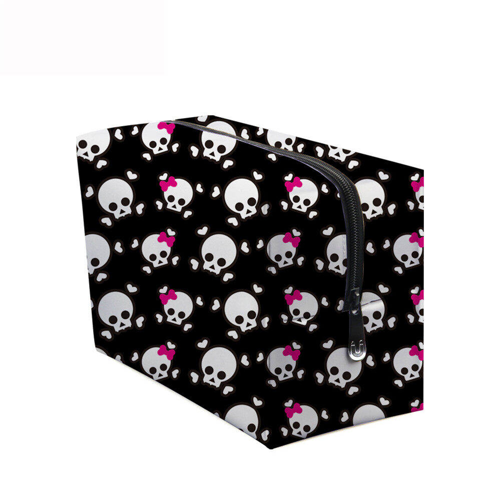 PhoRock Women Cosmetic Bag 3D Skull Printed Handbag HZB3D005 9