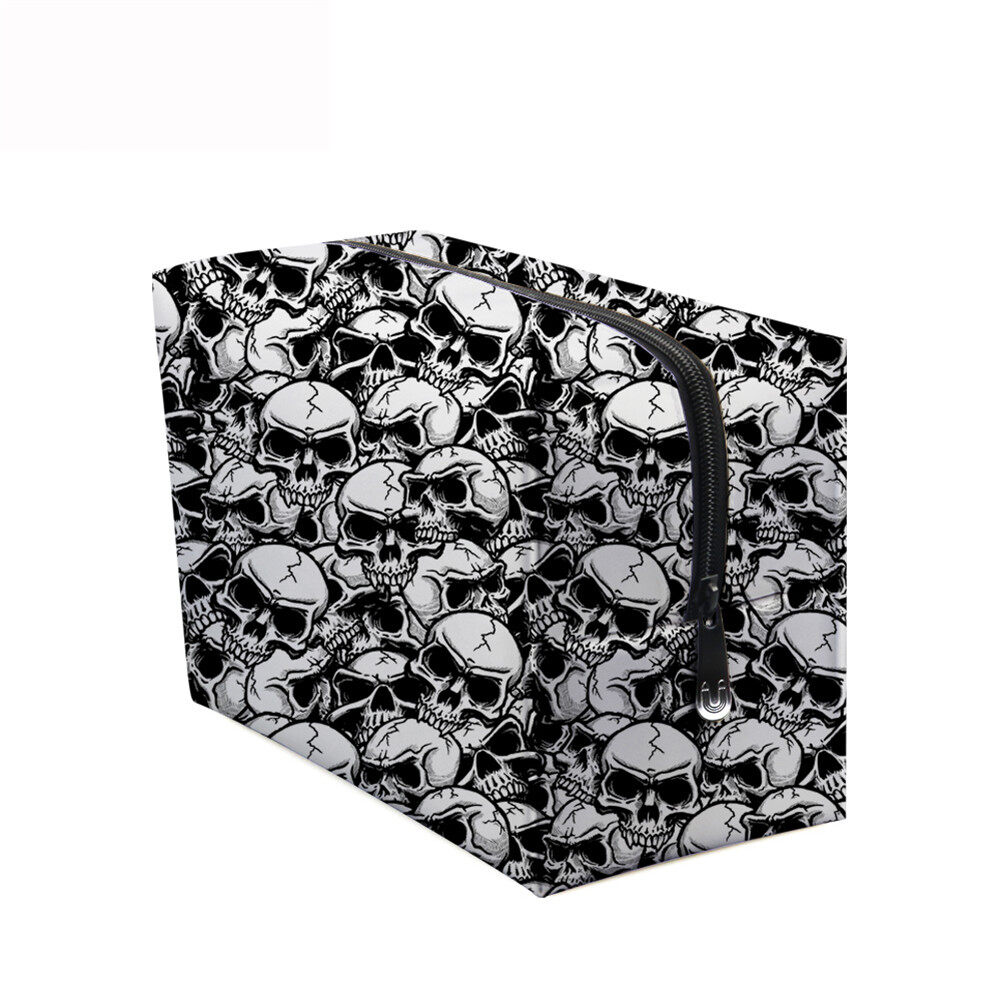 PhoRock Women Cosmetic Bag 3D Skull Printed Handbag HZB3D005 11