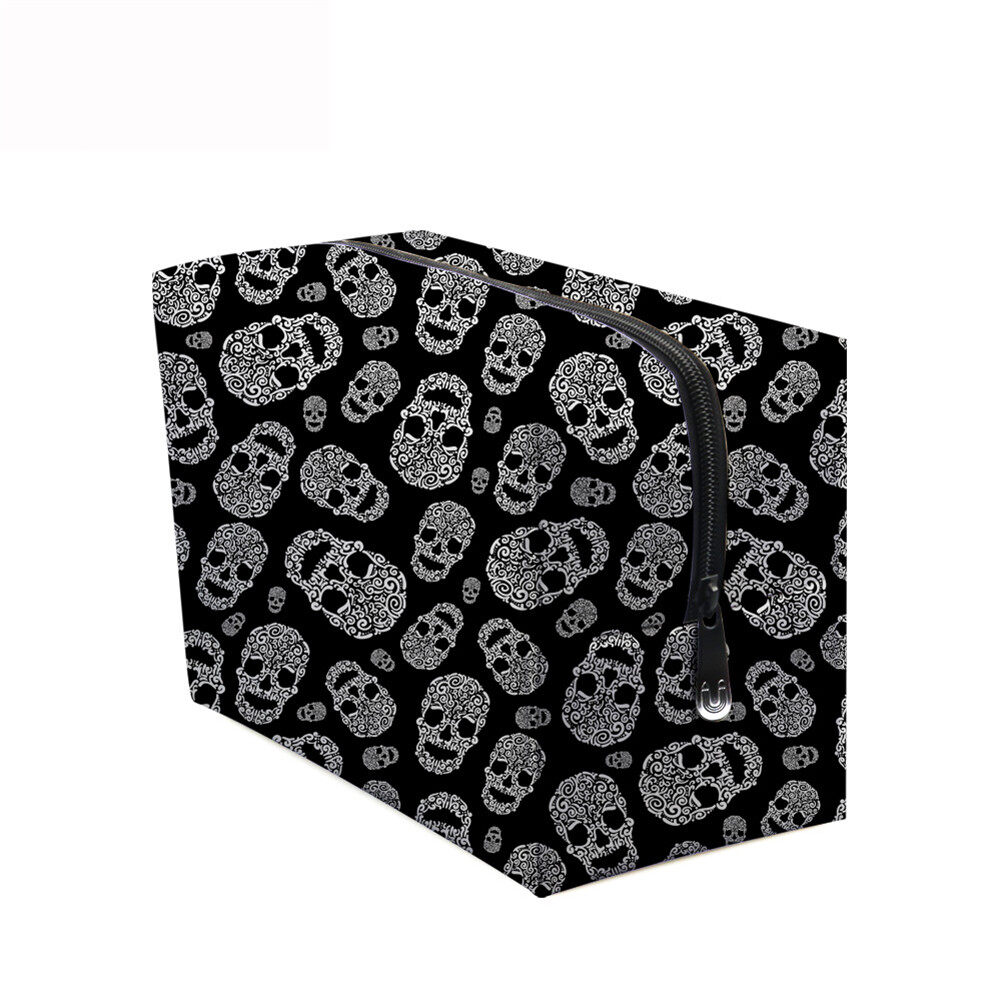 PhoRock Women Cosmetic Bag 3D Skull Printed Handbag HZB3D005 12