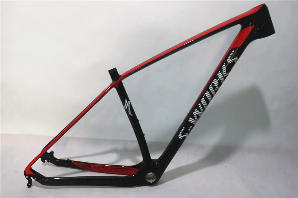 2017 new MTB frame specialized 29er T1000 full carbon frame 142x12 thru axle carbon frame 27.5er ...