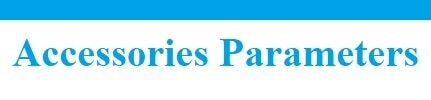 Accessories parameters 5581