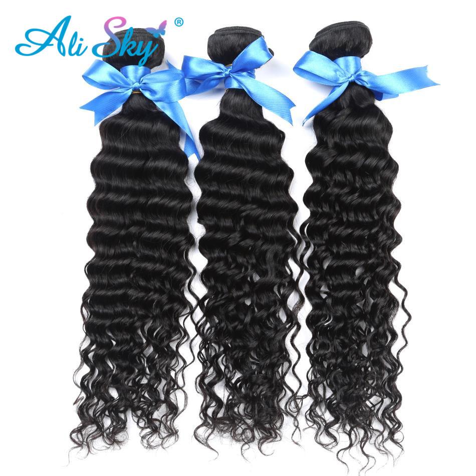 Brazilian Virgin Deep Curly Human Hair Weaves 3pcslot 7a Grade