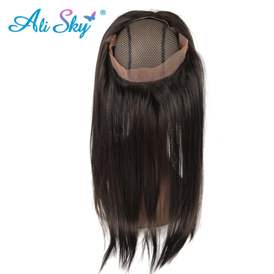 Ali Sky Malaysian Straight Virgin Hair 360 Lace Frontal 12 20 Can