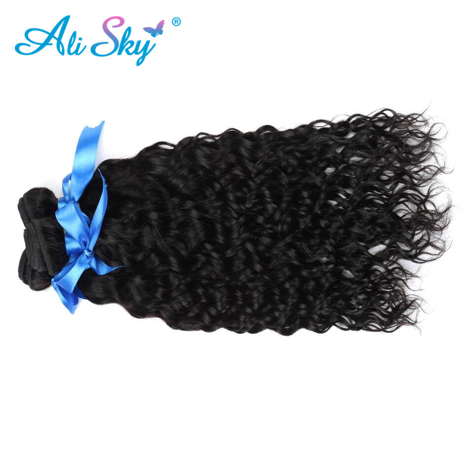 7a Peruvian Water Wave 3pcs Lot Wet And Wavy Human Hair Weave