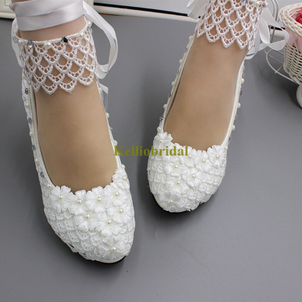 Modern Fashion Lace High Heel Bridal Shoes 2