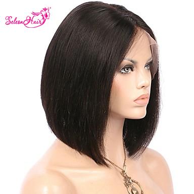 Seleonhair 9a 8 12 Brazilian Straight Bob Virgin Hair