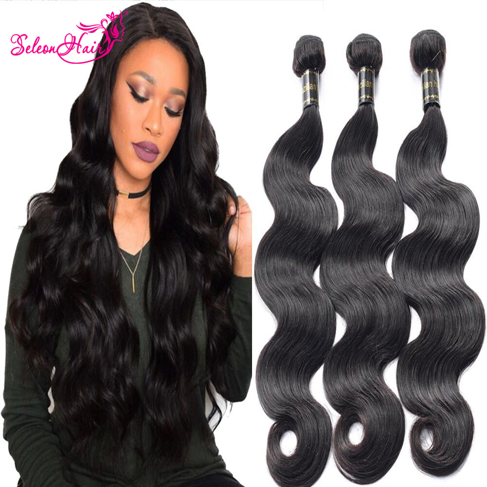 Seleonhair Indian Body Wave Virgin Hair Extensions 3 Bundles 8 30 Inch
