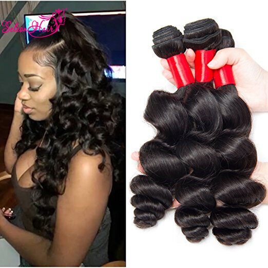 loose wave hair styles seleonhair wave hair american 3 8383 | SeleonHair Brazilian Loose Wave Hair 3 Bundles African American Hairstyles 1513148568502 0