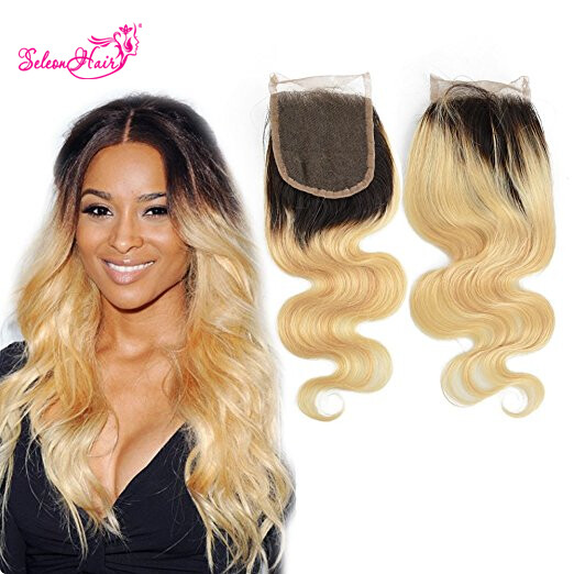 Seleonhair 1b 613 Blonde Body Closure 100 Virgin Hair