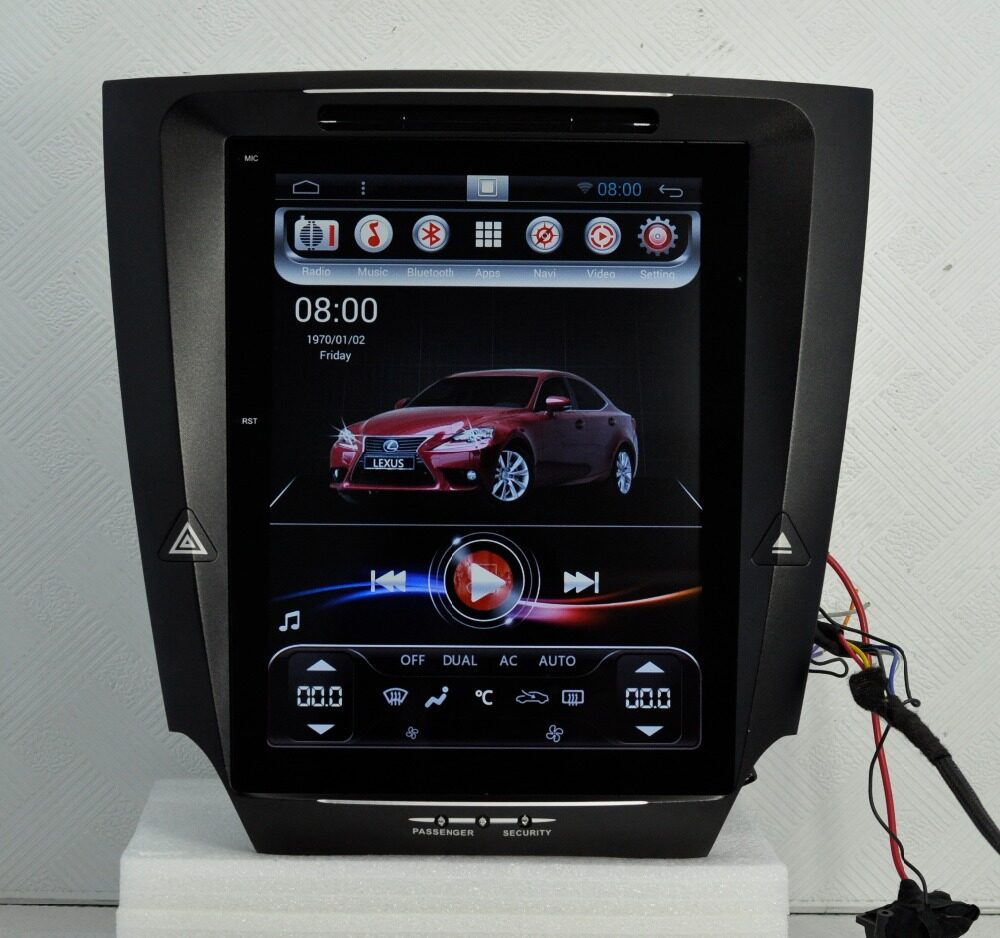 "Car Detail Shop >> 12.1"" Tesla Vertical Screen Android Headunit Autoradio Head Unit Car Stereo GPS for Lexus IS ..."