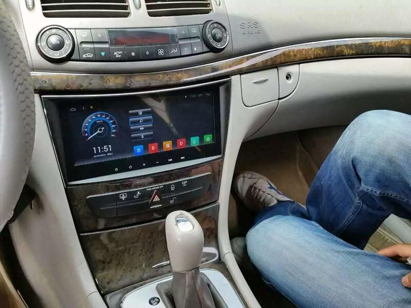 8 8 android 6 0 1 headunit autoradio head unit car stereo gps for mercedes benz e class w211. Black Bedroom Furniture Sets. Home Design Ideas