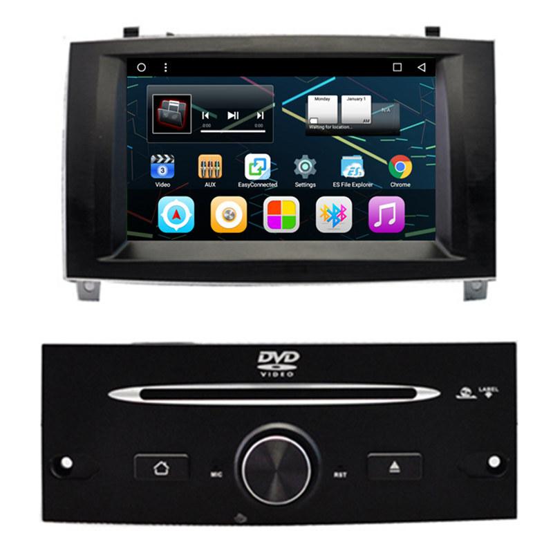 7 android autoradio car multimedia stereo gps navigation dvd radio audio head unit peugeot 407. Black Bedroom Furniture Sets. Home Design Ideas
