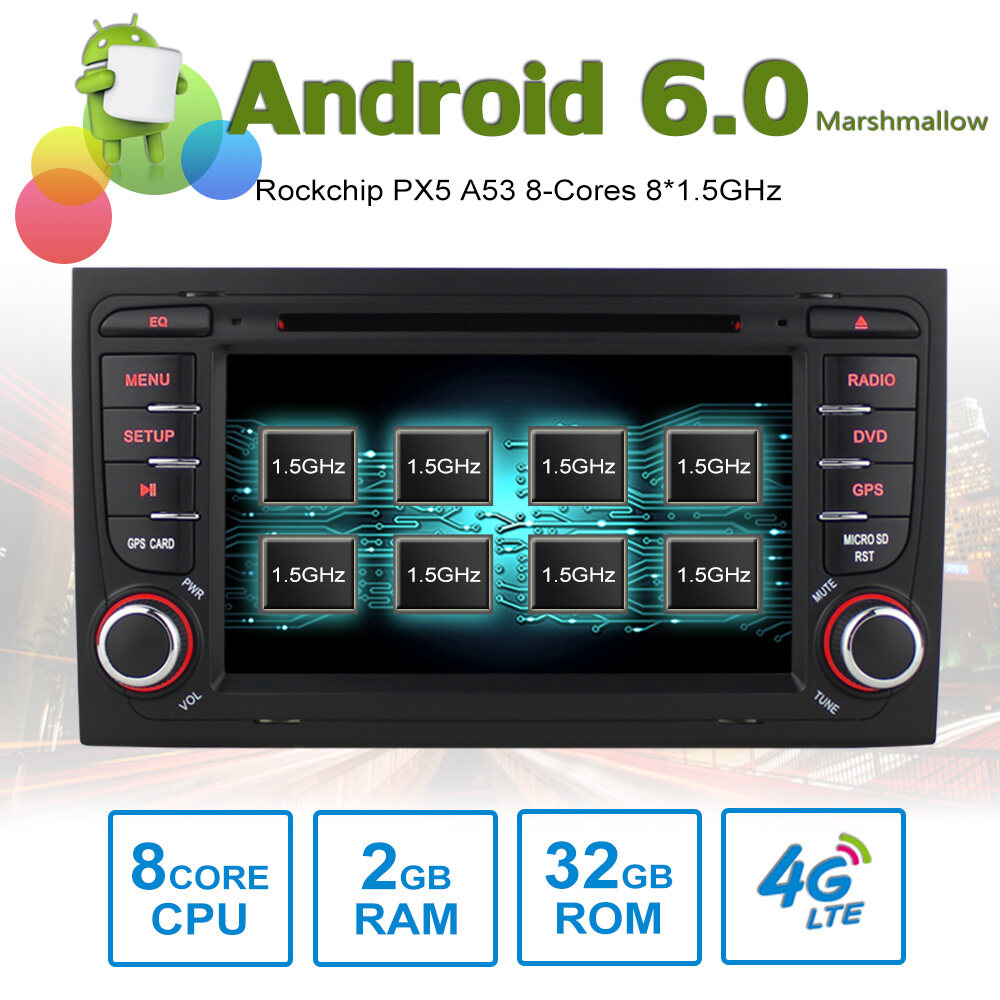 7 U0026quot  Android Autoradio Car Multimedia Stereo Gps Navigation Dvd Radio Audio Head Unit Audi A4 S4