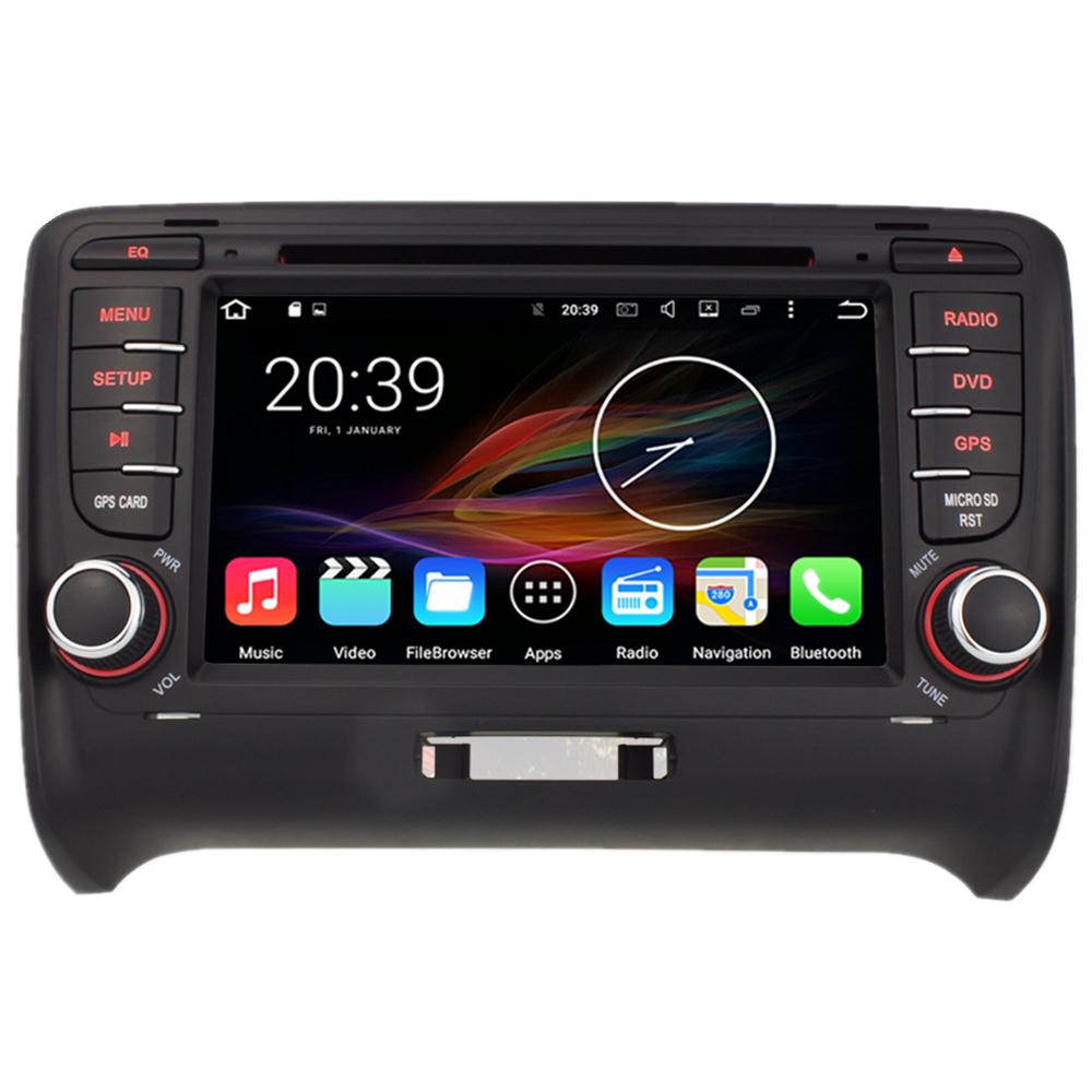 7 android autoradio car multimedia stereo gps navigation dvd radio audio head unit audi tt mk2. Black Bedroom Furniture Sets. Home Design Ideas