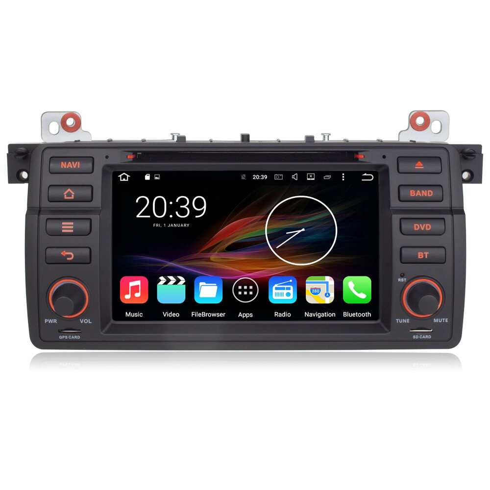 7 android autoradio car multimedia stereo gps navigation dvd radio head unit bmw e46 m3 3. Black Bedroom Furniture Sets. Home Design Ideas