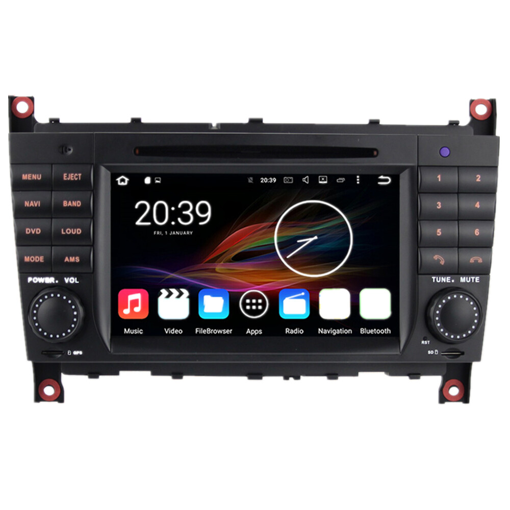 7 android car multimedia stereo gps head unit mercedes. Black Bedroom Furniture Sets. Home Design Ideas