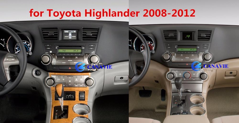 10 1 U0026quot  Android Autoradio Car Multimedia Stereo Gps Navigation Head Unit Toyota Highlander 2011