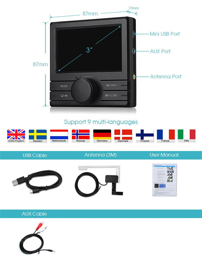 car digital radio box adapter fm transmitter digital audio. Black Bedroom Furniture Sets. Home Design Ideas