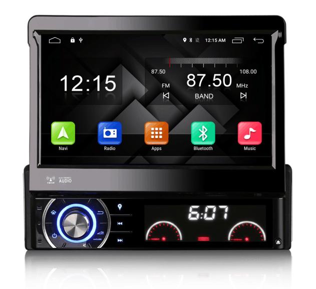 7 single one 1 din android 6 0 1 head unit car stereo multimedia gps navigation dvd radio audio. Black Bedroom Furniture Sets. Home Design Ideas