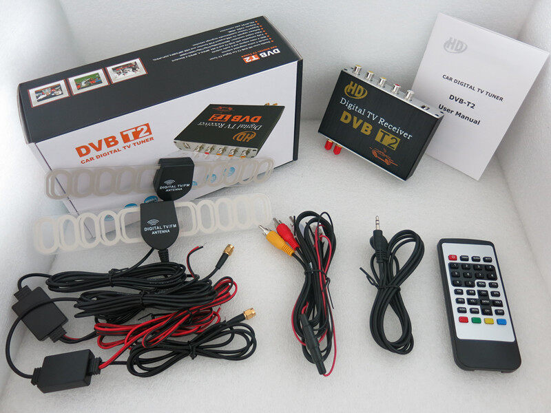 hd dvbt2 dvb t2 car mobile digital tv receiver box tuner. Black Bedroom Furniture Sets. Home Design Ideas