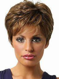 light brown short wig