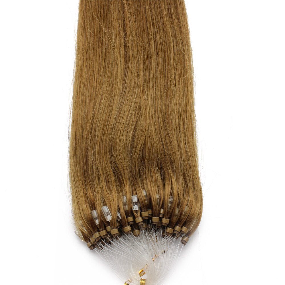 1630 Easy Loop Golden Brown Remy Human Hair Extensions 100g Micro