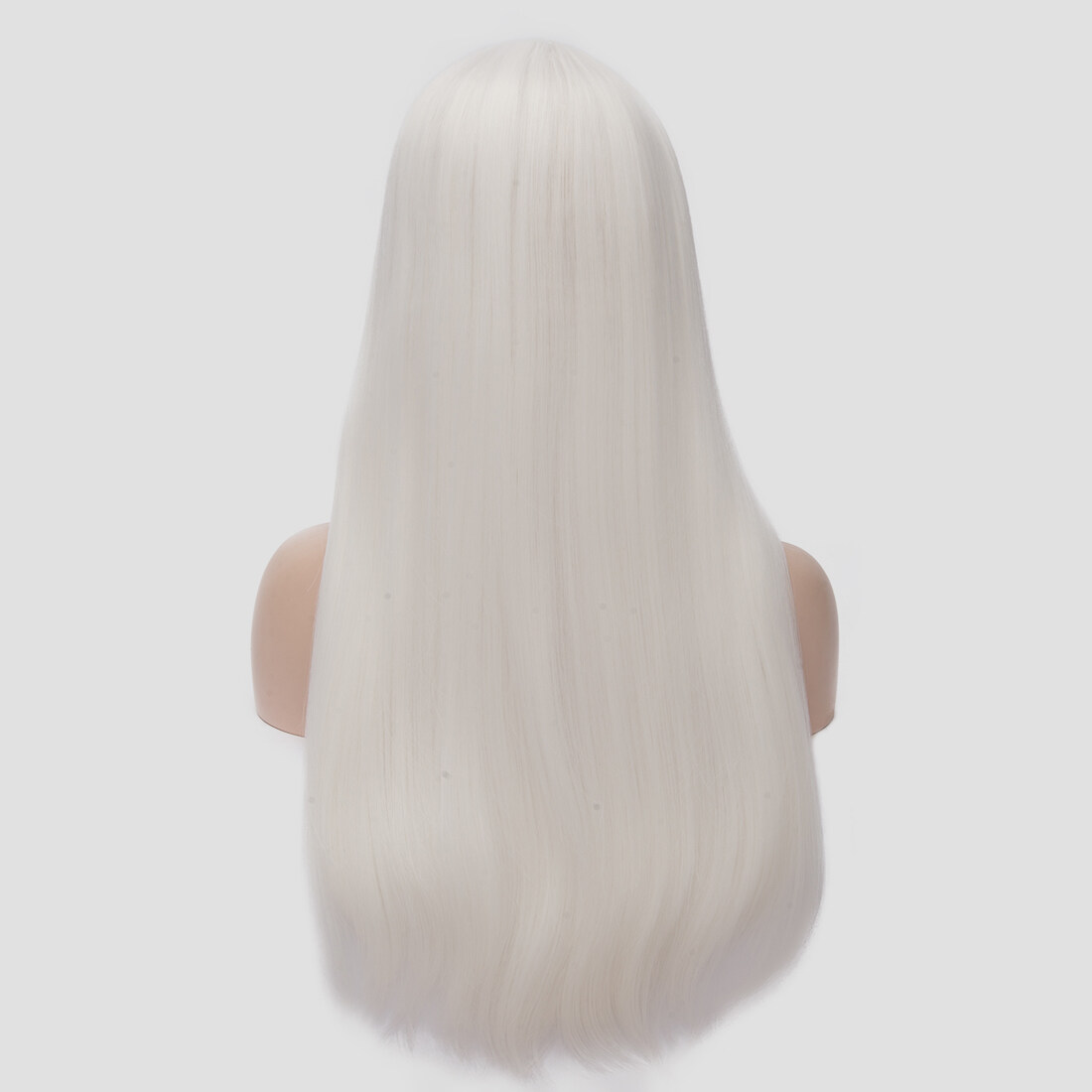 Long Straight Heat Resistant Synthetic Snow White Cosplay Party Wig 1