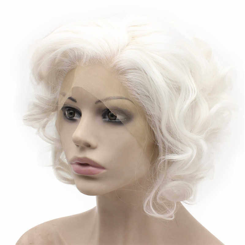 Short White Wig White Curly Wig